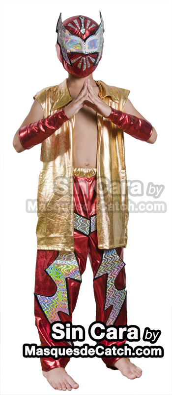 Kids Sin Cara Costume Outfits Amp Pants Blue Maskedwrestlers