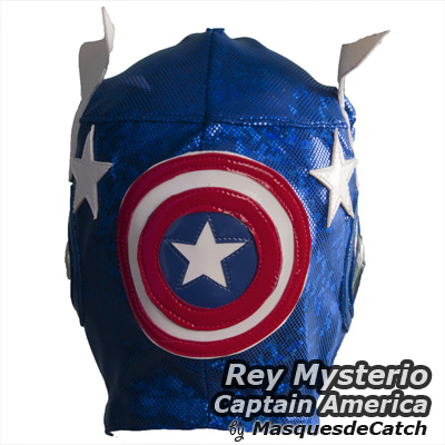 Masque de catch rey mysterio masque qualit semi pro lucha libre - Masque de captain america ...